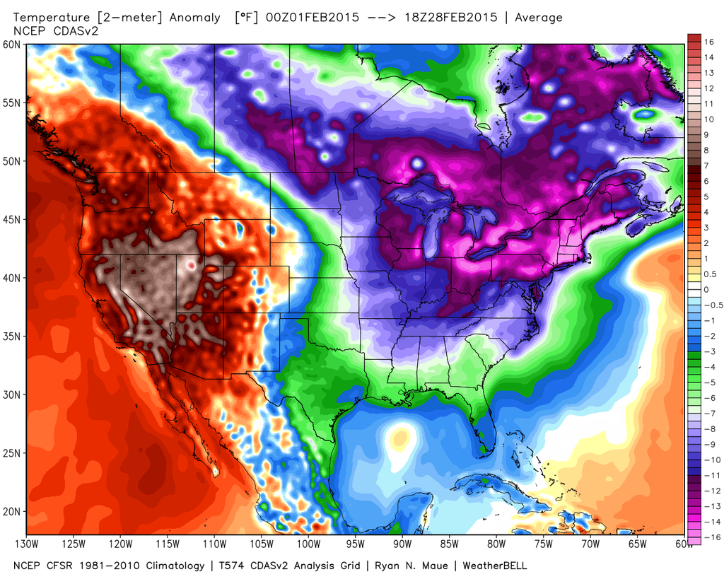 Spring To Finally Arrive In Brutally Cold & Snowy Eastern U.S.?