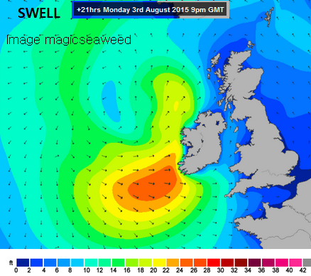 Surf's up Ireland and Cornwall, Tidal flood warnings too