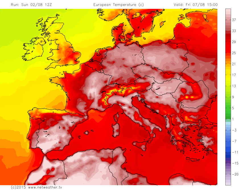 European Holiday Weather Outlook. Heat Building This Week