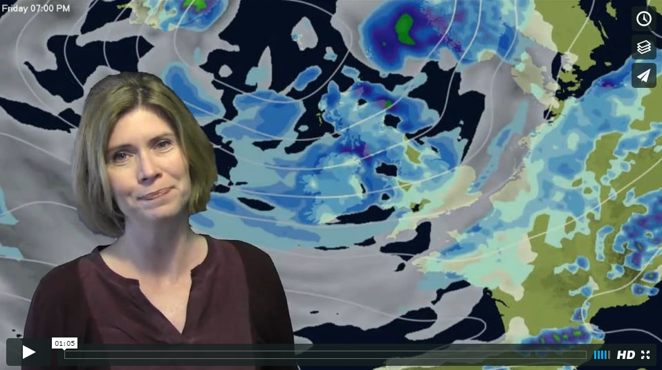 Video Update: Waves of cool blustery showers