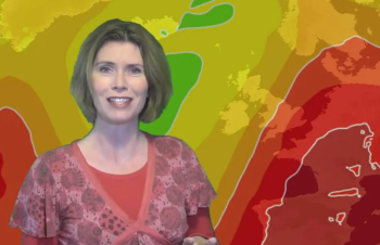 Video: Getting hotter, but some heavy rain too