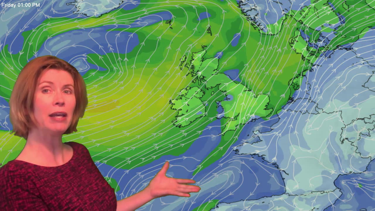 Video: Still warm, but increasingly blustery with rain in places