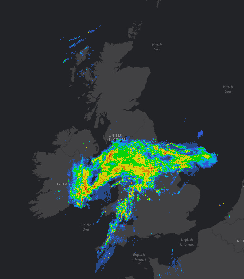 Rain Clearing East Then Mainly Dry and Mild