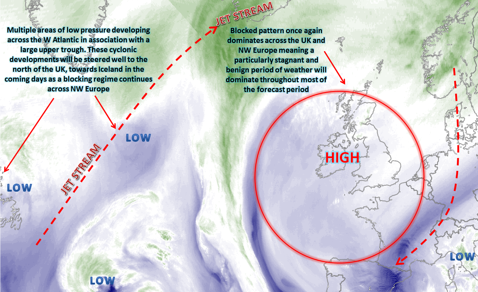 Synoptic Guidance - 17th January - Blocked Pattern Dominating