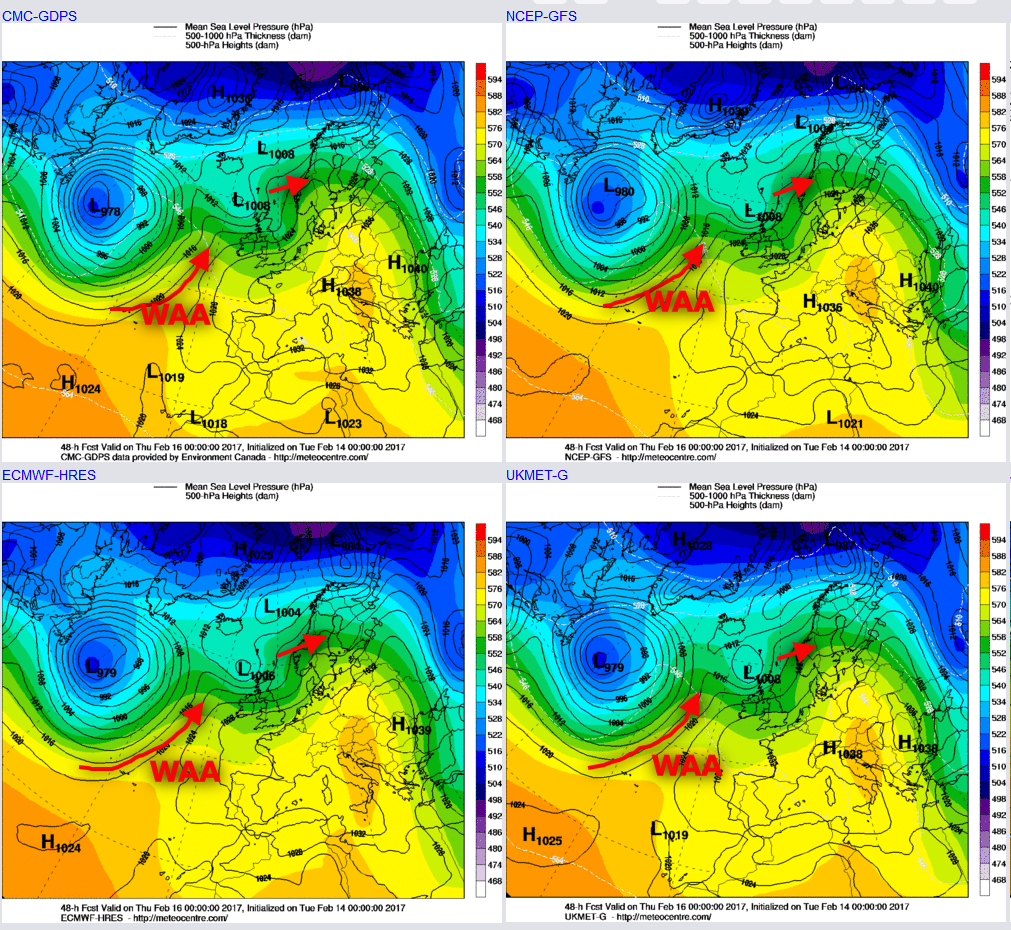 Synoptic Guidance - Unsettled and Milder
