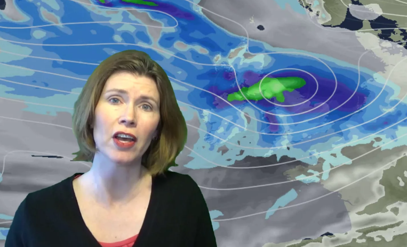 Video: Very mild, then wet and windy, then colder