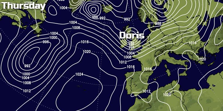 Storm Doris Inbound