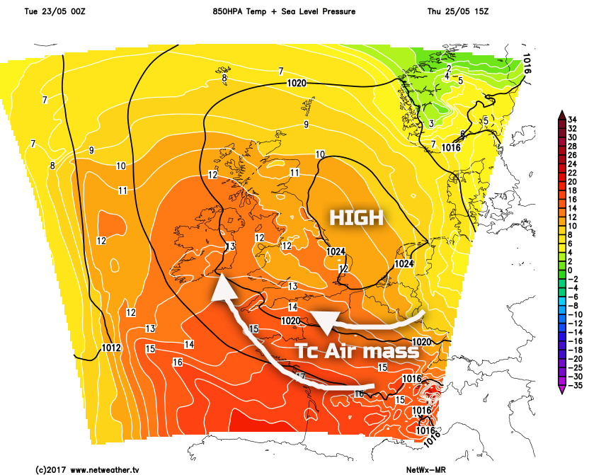 Synoptic Guidance - Heat and Humidity then Cooler