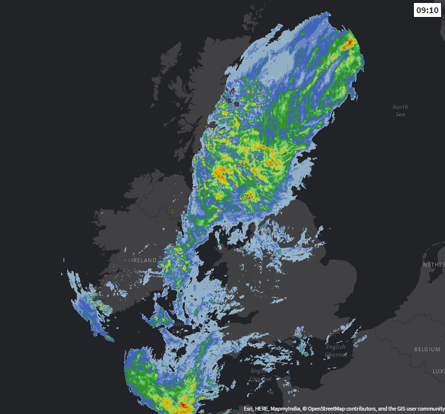 Wettest Weather Edging Northwest Today