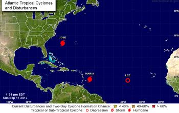 Hurricanes: Jose - east coast swell, Maria - Caribbean again