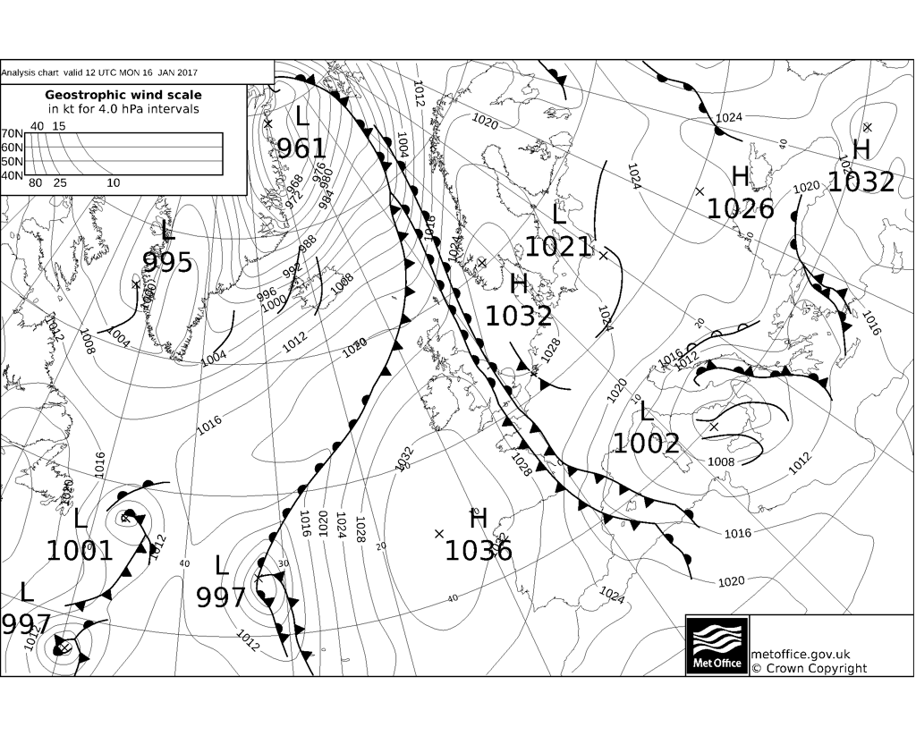 Met Office Fax Synoptic Chart