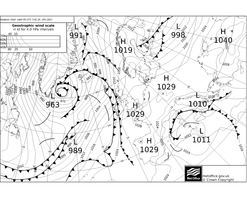 fax synoptic charts from the uk met office