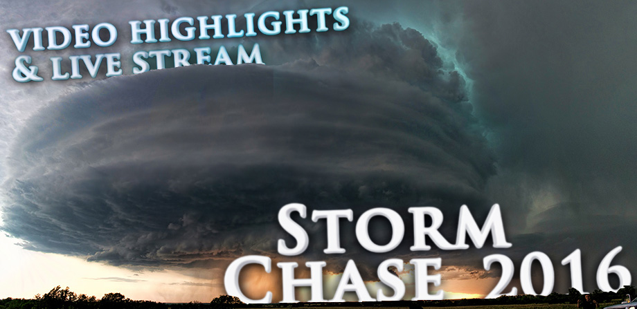 Storm chase video and live stream
