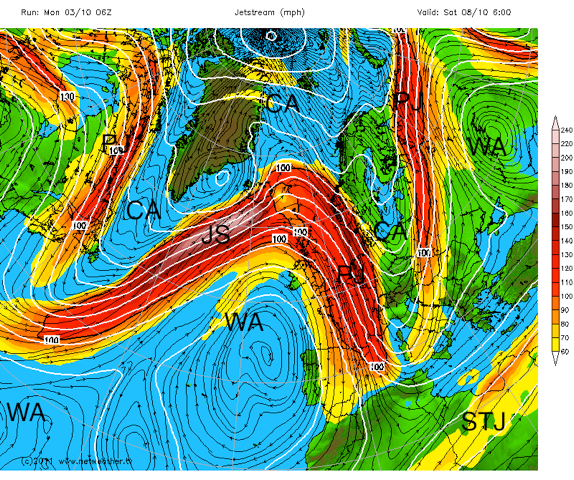 The Jetstream What It Is And How It Affects Our Weather - Current-us-jetstream-map