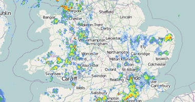 Weather Radar - Live UK Rainfall Radar - 5 Minute Updates - Netweather