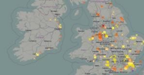 Lightning detector map