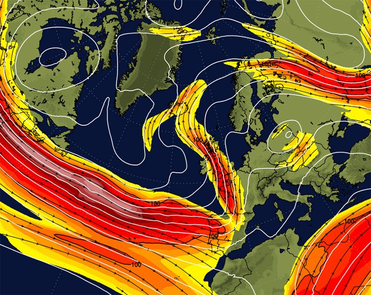Jetstream Forecast - Jetstream Map Updated Four Times Daily ...