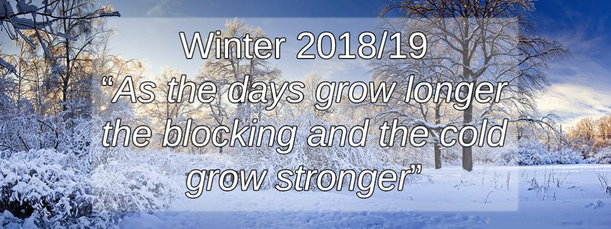 Winter Long Range Forecast 2018
