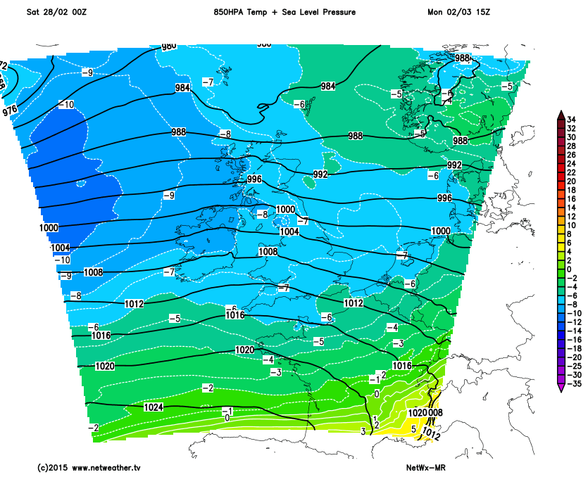 Cold air with us into next week