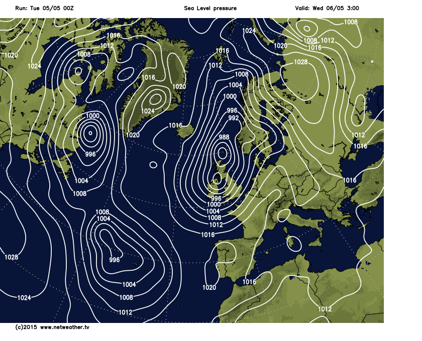 Deepening low heading in tomorrow