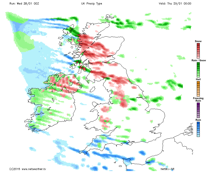 Wintry showers packing in overnight
