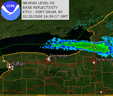 Radar from Fort Drum