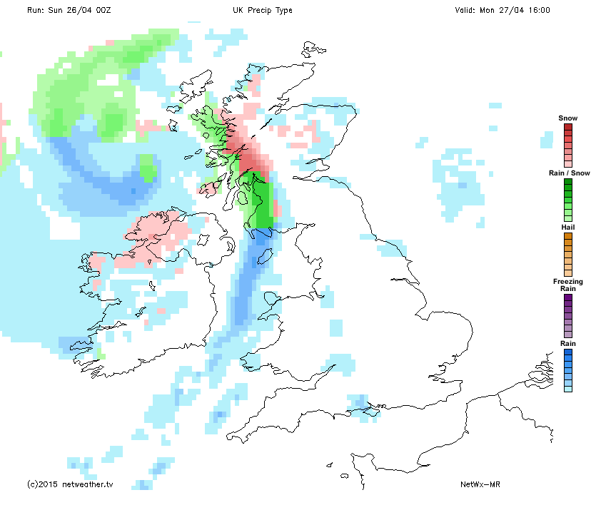 Wintry showers monday