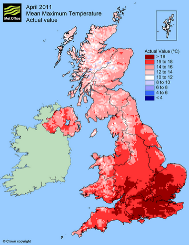 Easter weather 2015, hottest ever? - Blog by Jo Farrow