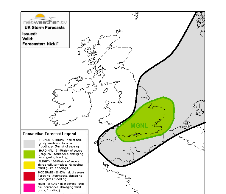 Storm forecast map for today