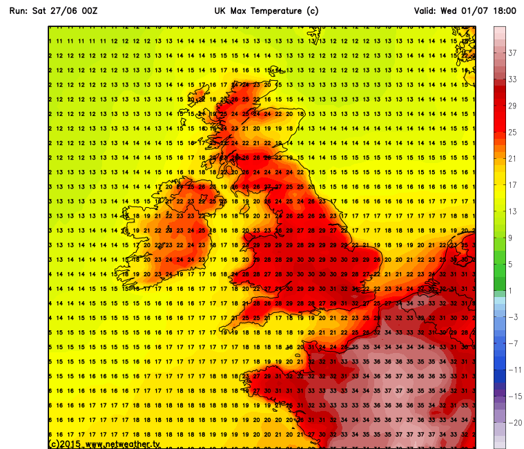 Hot by Wednesday