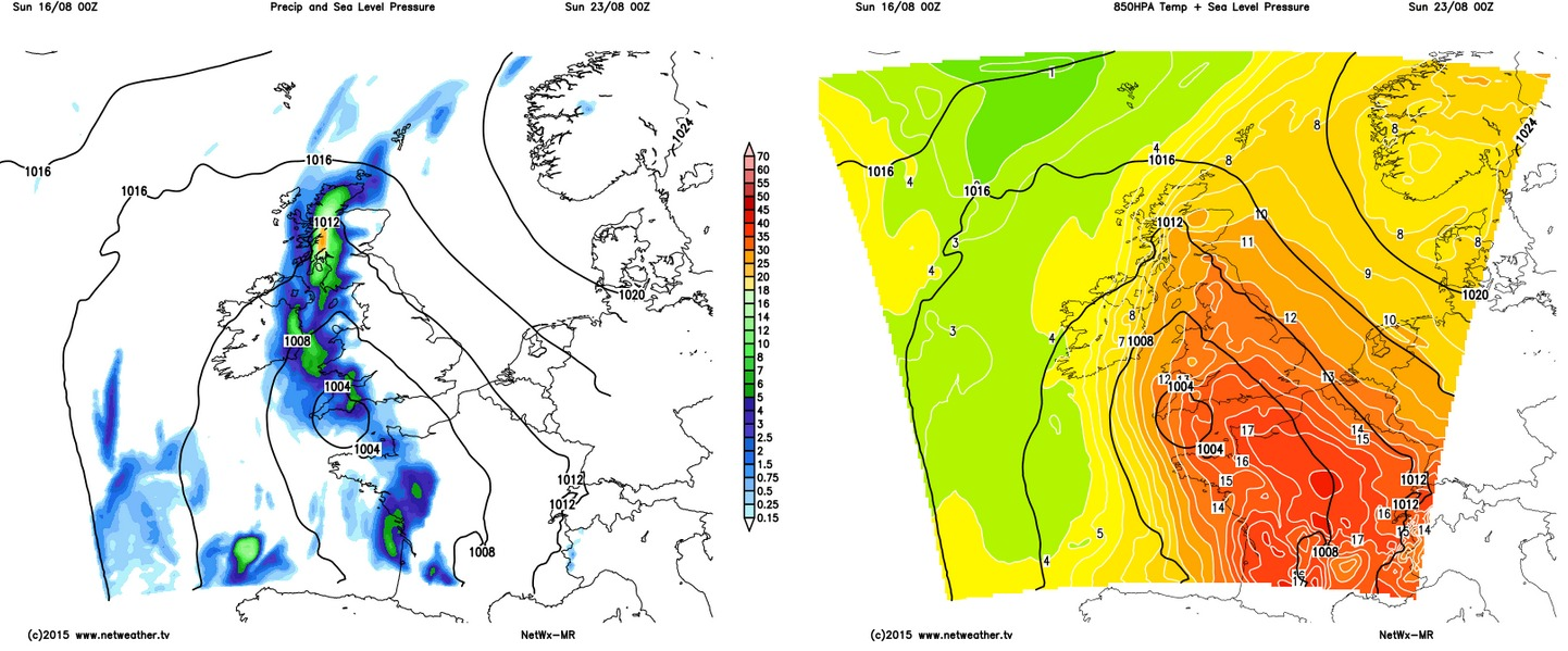 A thundery threat later next weekend?