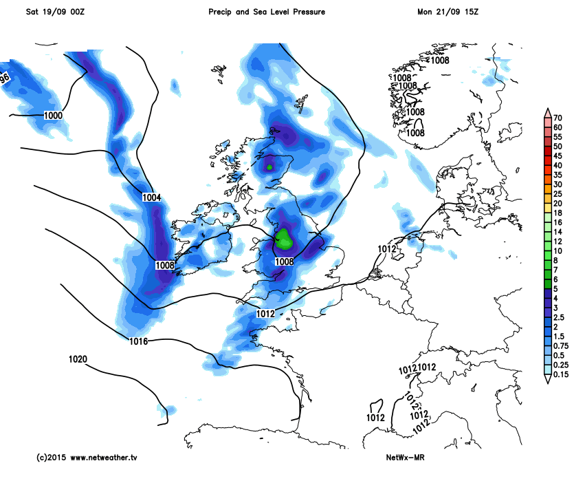 Unsettled again to start next week