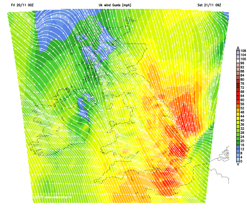 Strong winds on Saturday