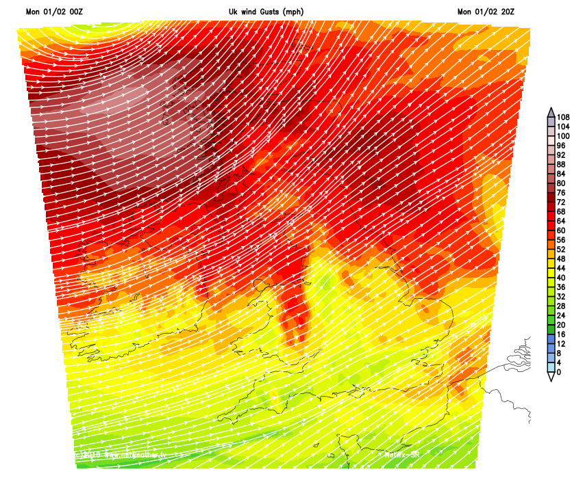 Storm Henry bringing significant gusts today