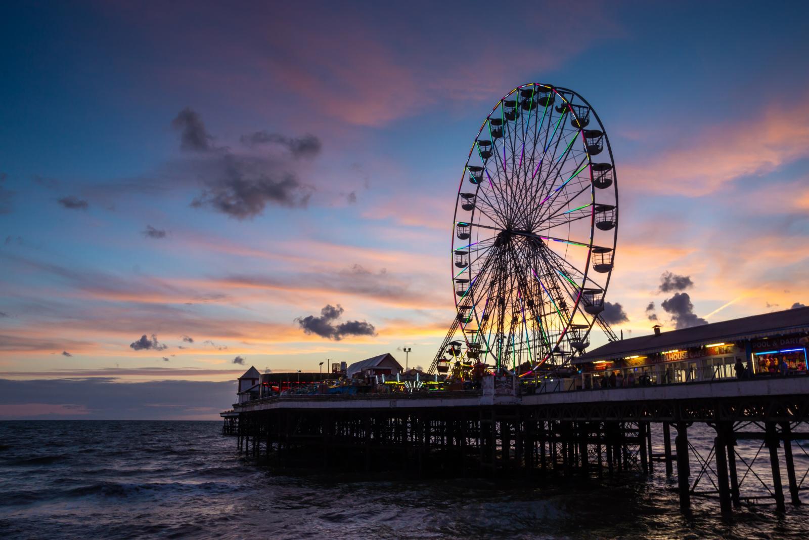 Blackpool illuminations and Pleasure beach weather