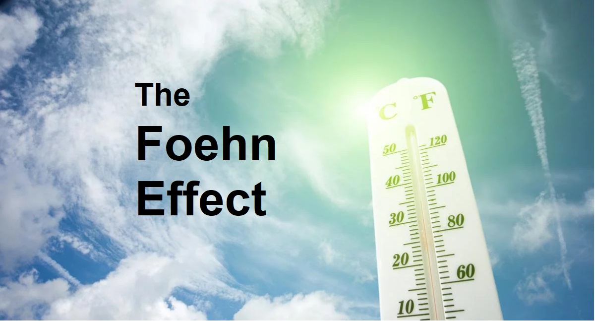 Surprising high UK temperatures: The Foehn or Fohn Effect