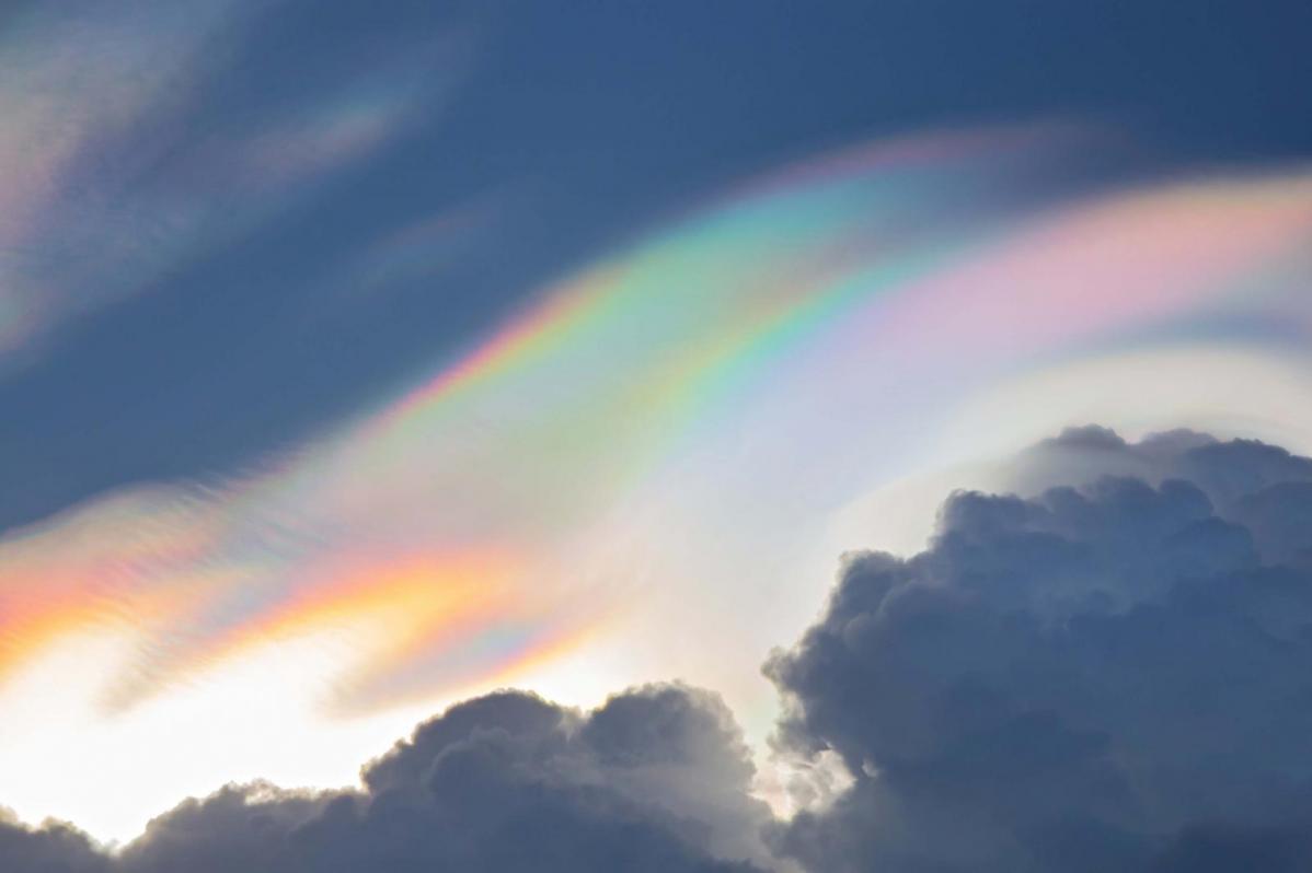 Rainbow Clouds - Pileus and Iridescence