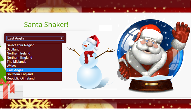 End of November chill with a little bit of Snow. And the Santa Shaker is back