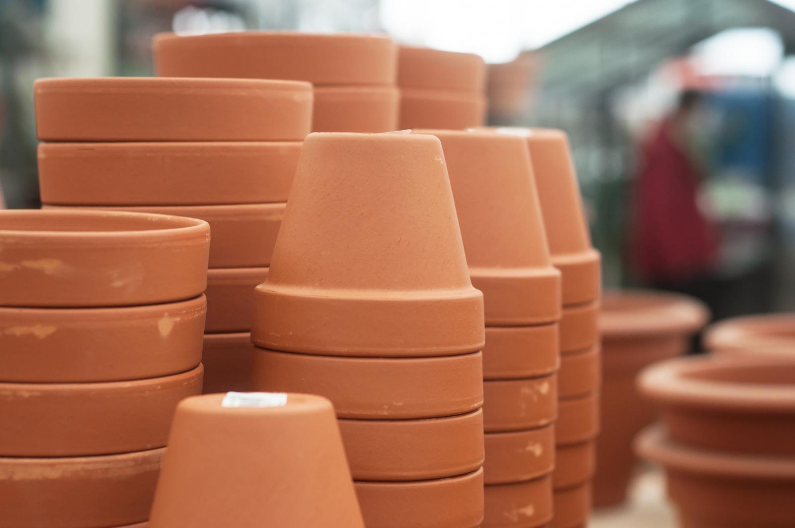 Garden pots ready for Spring