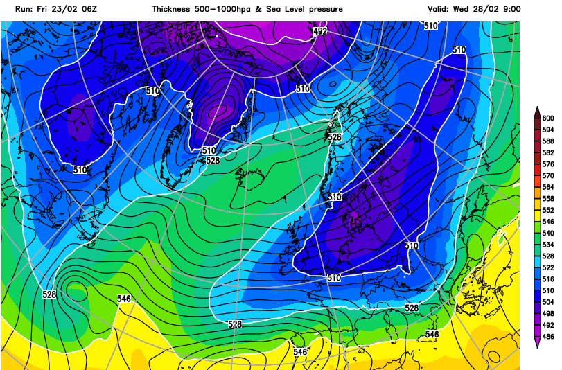 Brutal cold for the Alps from the East next week