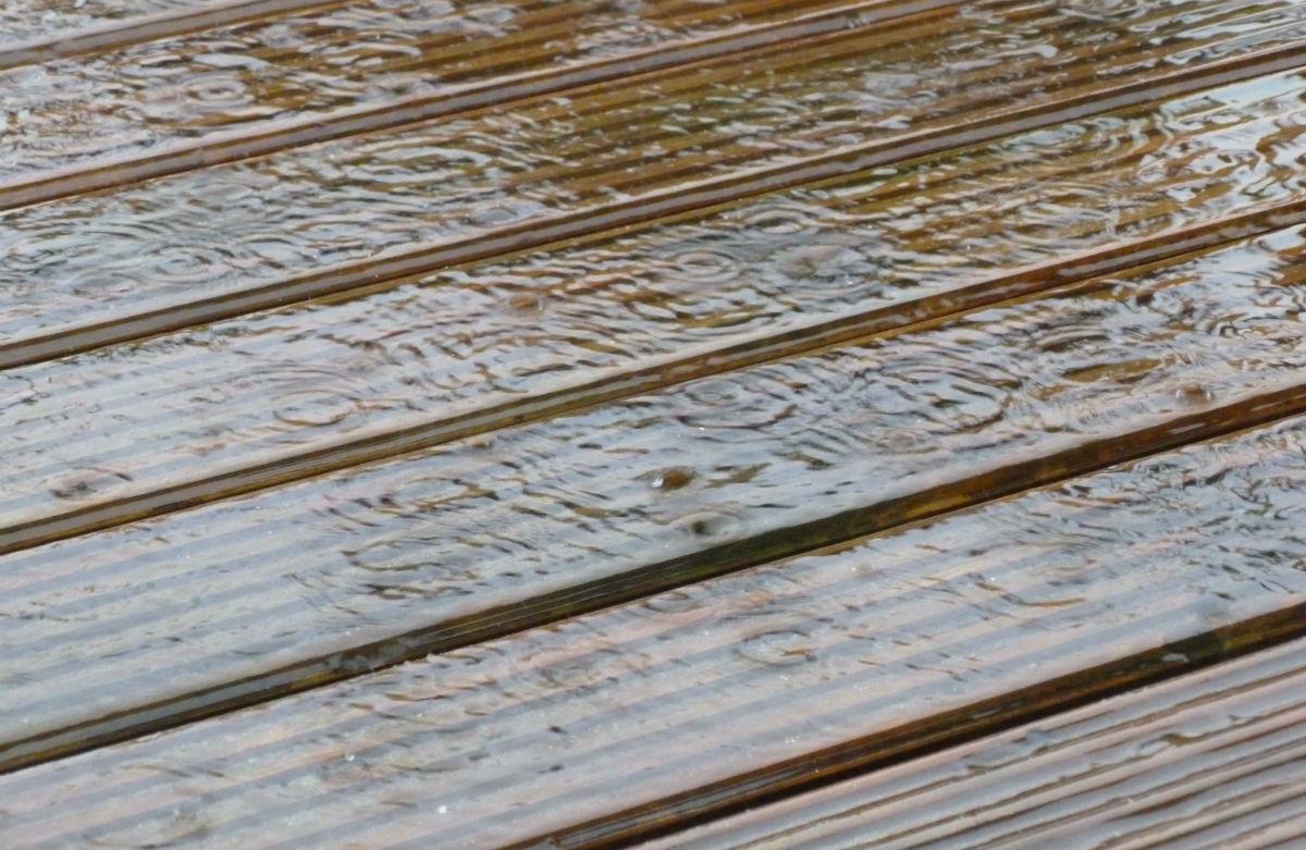 Rain on decking
