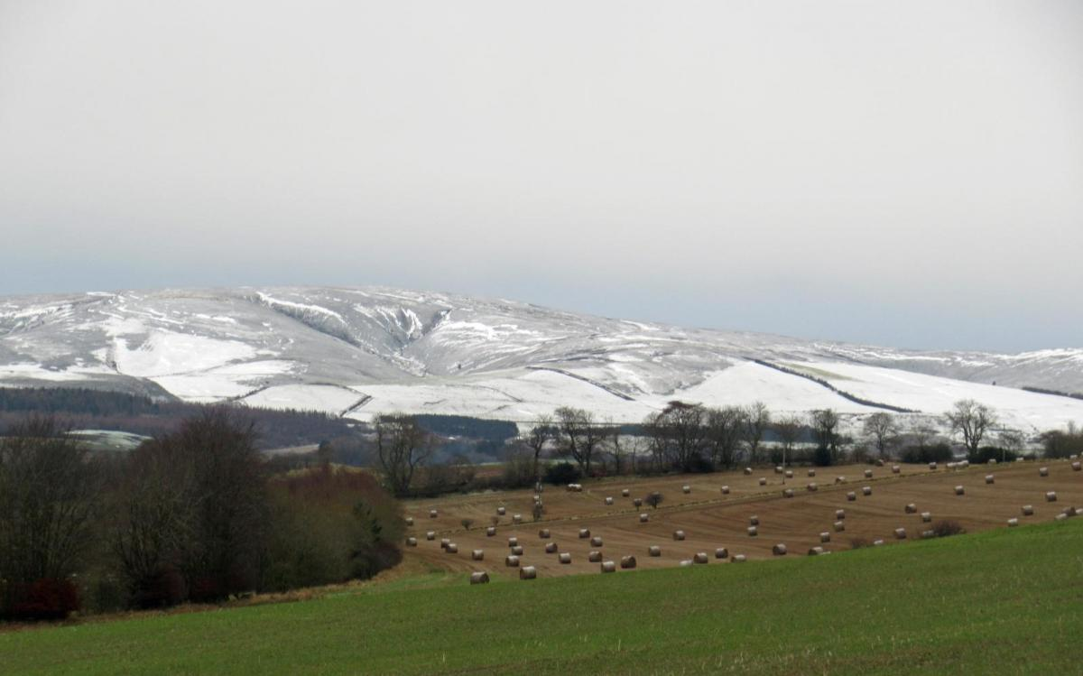 A nippy weekend with frosty nights and just a scattering of snow showers