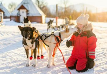 Finally some snow for Lapland after a bad start for the Visit Santa season