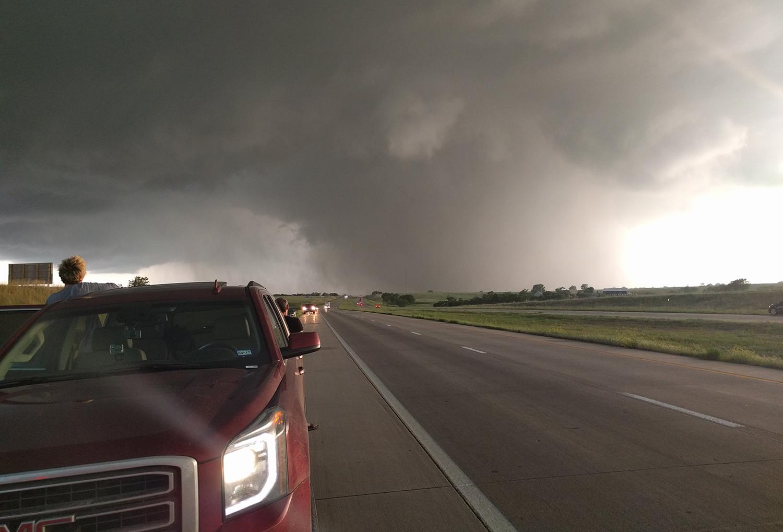 Long track wedge tornado