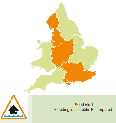 June flood risk, summer showers and frontal rain