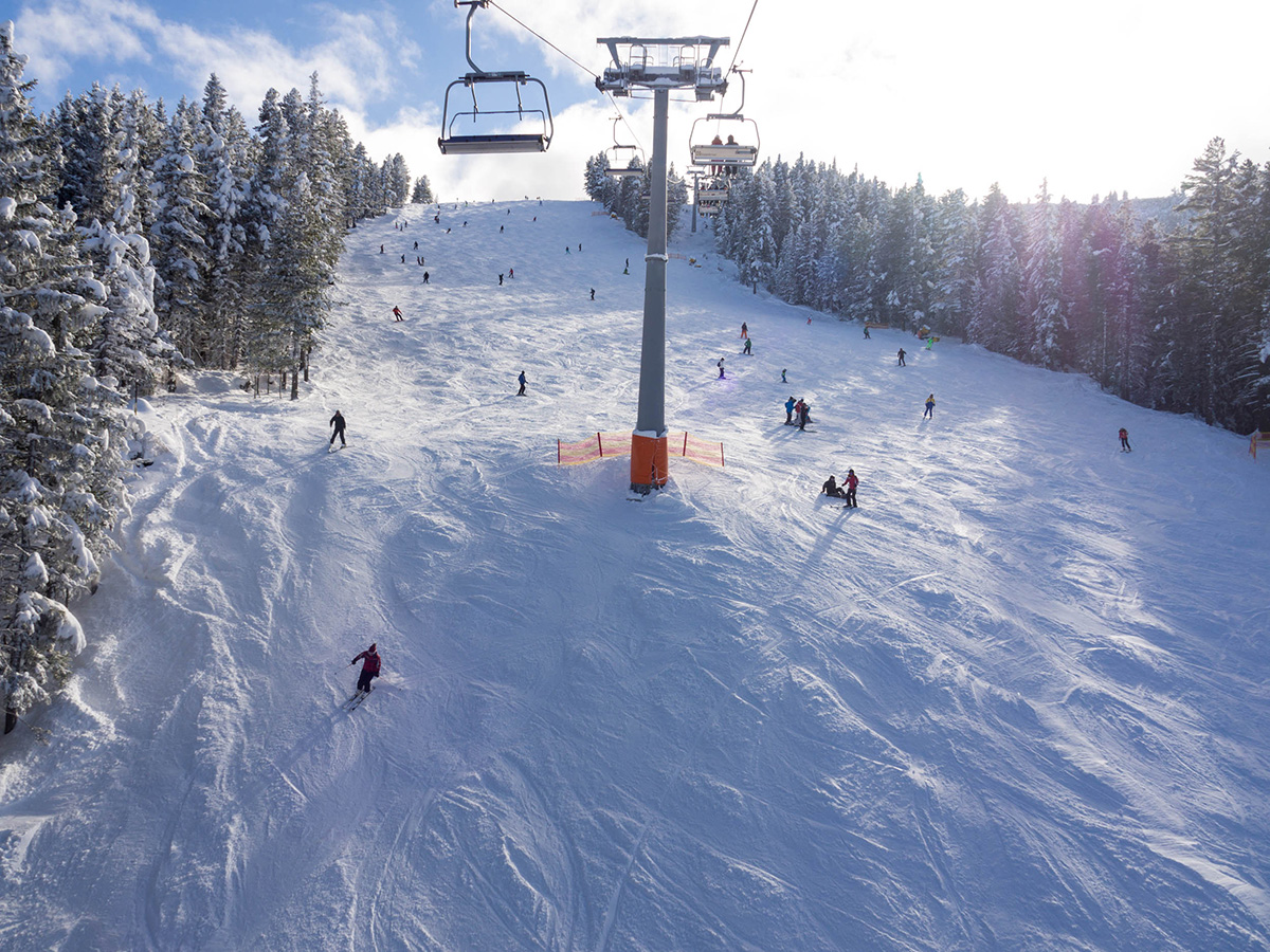 View of a piste at Bansko