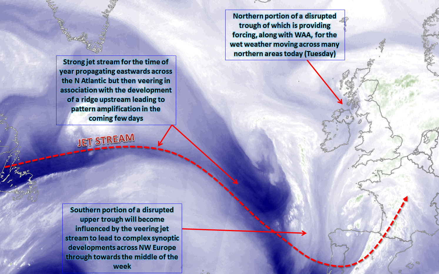 Synoptic guidance unsettled weather continues