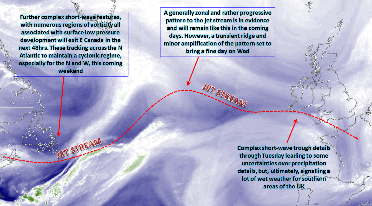 Synoptic guidance a zonal and progressive pattern dominates