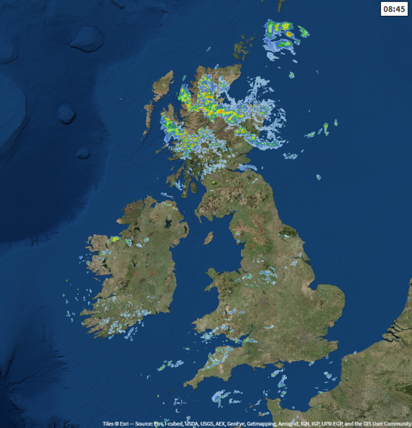 Radar from 0845 this morning