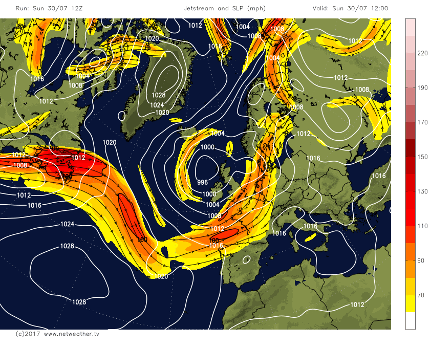 Southerly Tracking Jet Stream Keeps Heat Away